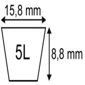 Axe fileté diamètre 12 x 30 / 6 x 16 lisse longueur 46 mm origine Rabewerk