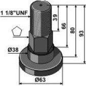 Piton SCHULTE adaptable – 251-018