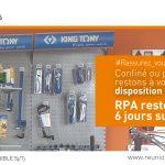 Rassurez-vous ! Nos magasins RPA restent ouverts pendant le confinement !